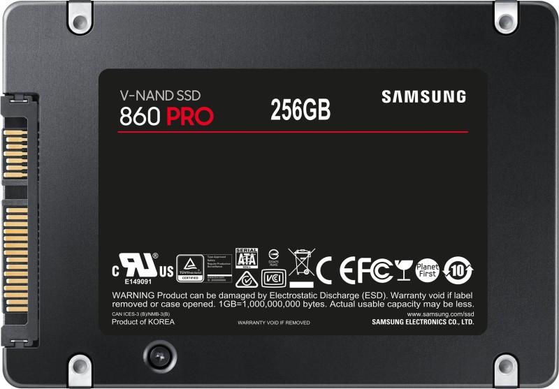 Samsung 860 Pro 256 GB Laptop, Desktop Internal Solid State Drive (MZ-76P256BW)