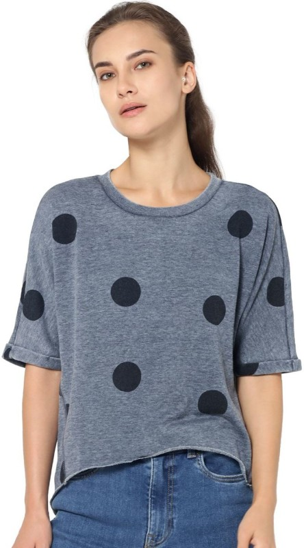 Only Half Sleeve Polka Print Women Sweatshirt