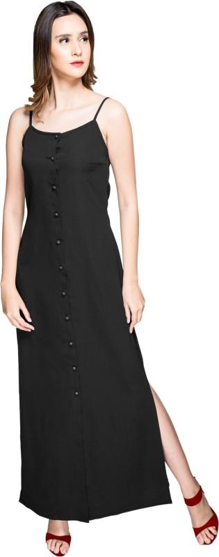 Itrra Women A-line Black Dress