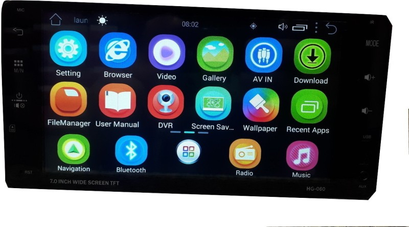 V&J Traders Universal Car Double Din Player Android 8.0 1GB RAM 16GB ROM Car Stereo(Double Din)