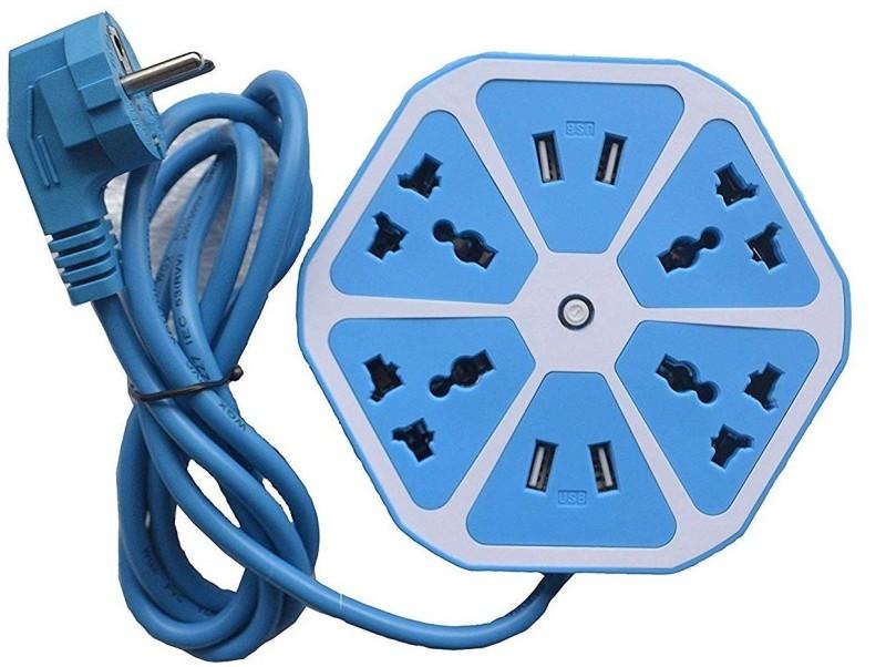 Fedus Hexagon Socket Extension Cord Board 4  Socket Extension Boards(Blue)