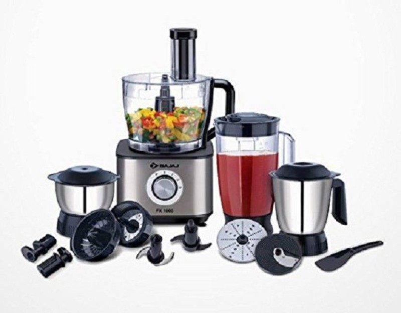 Bajaj FX-1000 Food Processor 1000 W Food Processor(Black)