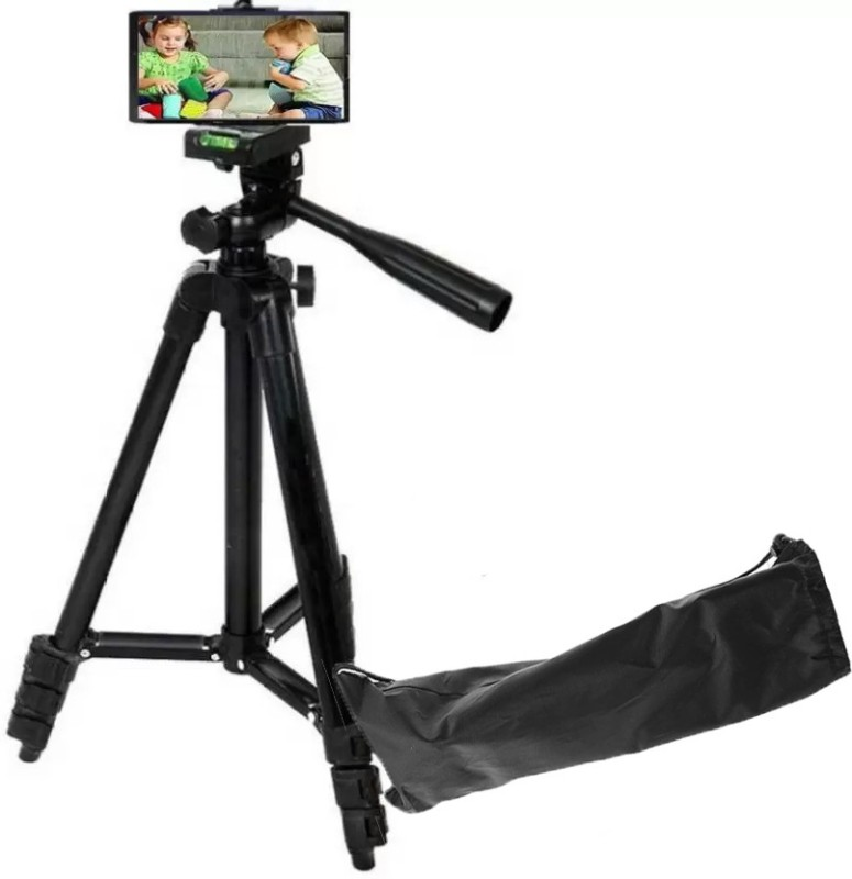 Blue Birds Portable Adjustable Lightweight Camera Stand Tripod-3120 Tripod(Black, Supports Up to 1500 g)