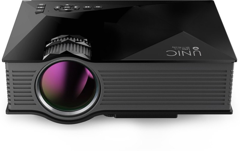Livato Unic UC68 FullHd Led Projector 1800 lm LED Corded Portable Projector(Black)