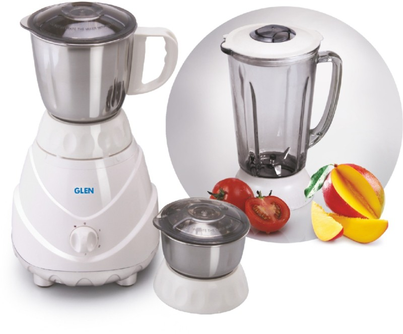 GLEN SA4022 750 Mixer Grinder(White, 3 Jars)