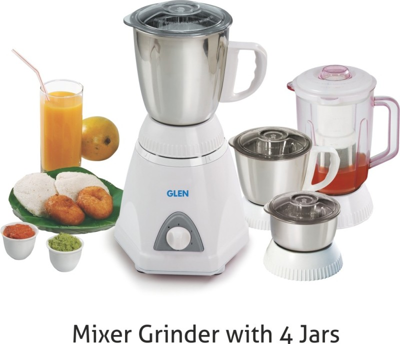 GLEN GL 4026 PLUS SA4026PLUS750 750 W Mixer Grinder(White, 4 Jars)