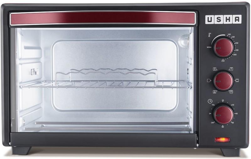 Usha 35-Litre 3635Rc Oven Toaster Grill (OTG)(Wine & Matte Black)