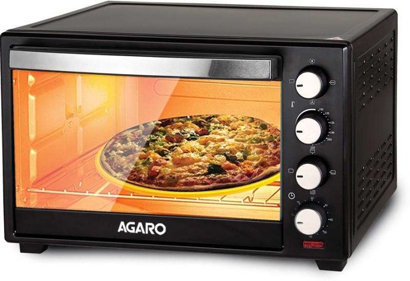 Agaro 38-Litre Marvel Series 38 Litre Oven Toaster Griller with Rotisserie Oven Toaster Grill (OTG)(Black)