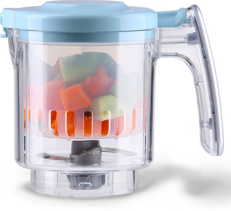 Kiddale Baby Food Processor Tritan Stir Cup SET with steam basket and blade- An Accessory for Food Processor(Blue)