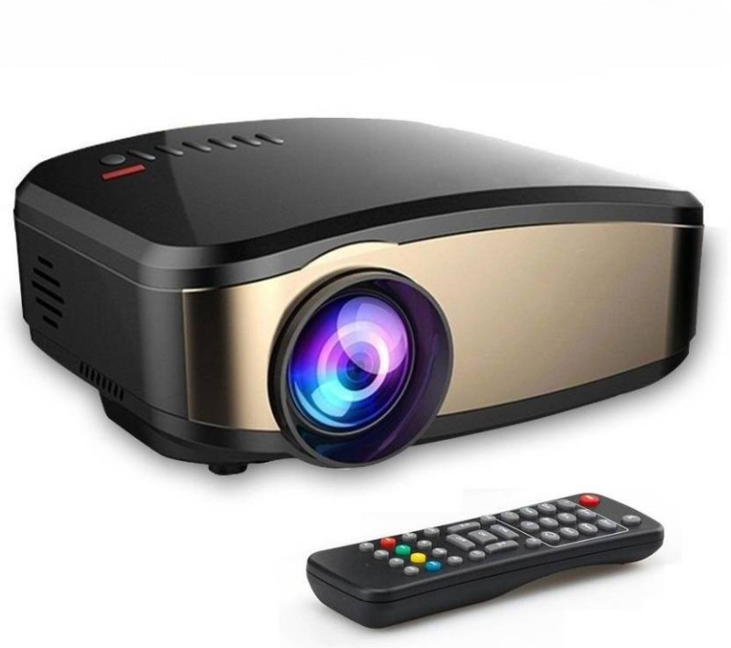 FU4 1200 lm LCD Corded Portable Projector(Black)