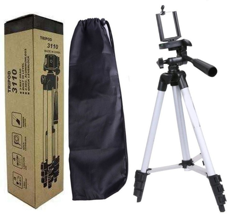 BUY SURETY 3110 Portable and Foldable Tripod Tripod(Silver & Black, Supports Up to 1500 g)
