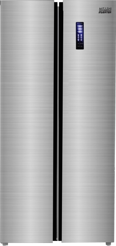 Mitashi 510 L Frost Free Side by Side Inverter Technology Star (2019) Refrigerator(Silver, MiRFSBS1S510v20)