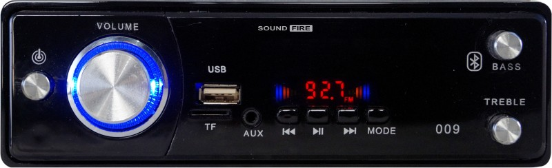 SOUND FIRE SF-009 (BLACK) BLUETOOTH/USB/SD/AUX/FM/MP3 Car Stereo(Single Din)