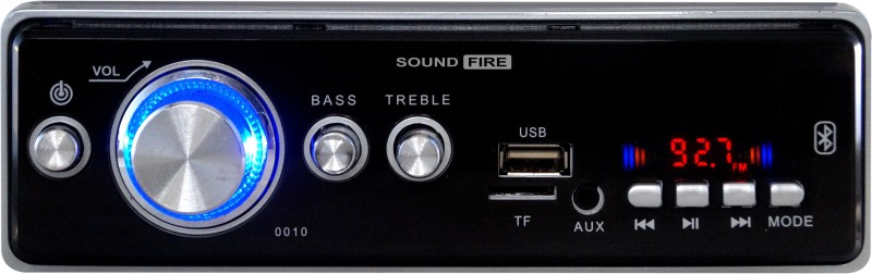 SOUND FIRE SF-0010 (SILVER) BLUETOOTH/USB/SD/AUX/FM/MP3 Car Stereo(Single Din)