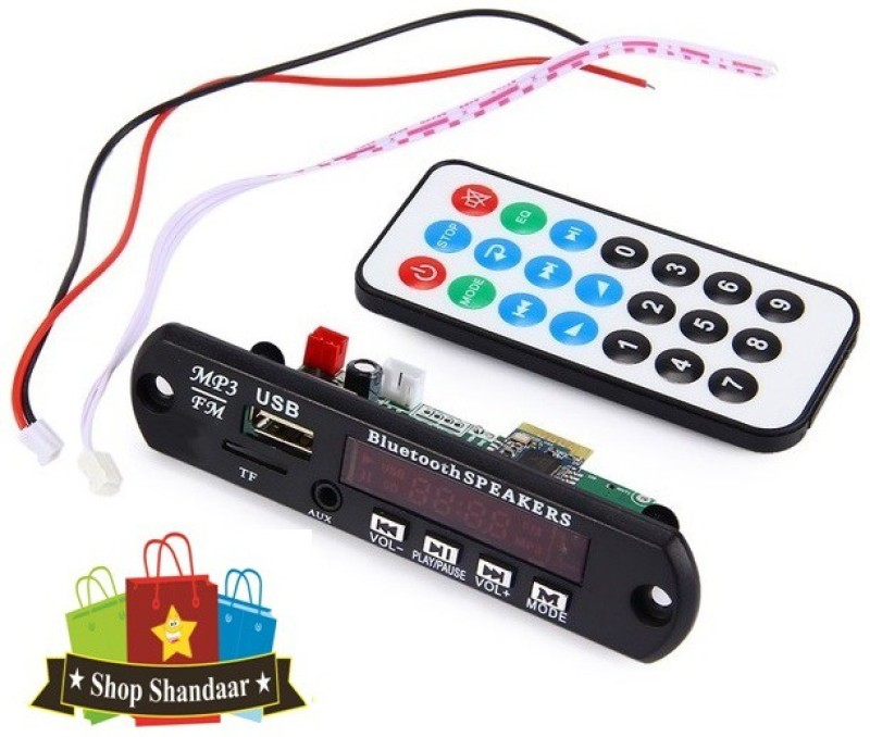 Shop Shandaar Bluetooth FM USB AUX Card MP3 Stereo Audio Player Kit with Remote & Wire FM Transmitter Electronic Hobby Kit