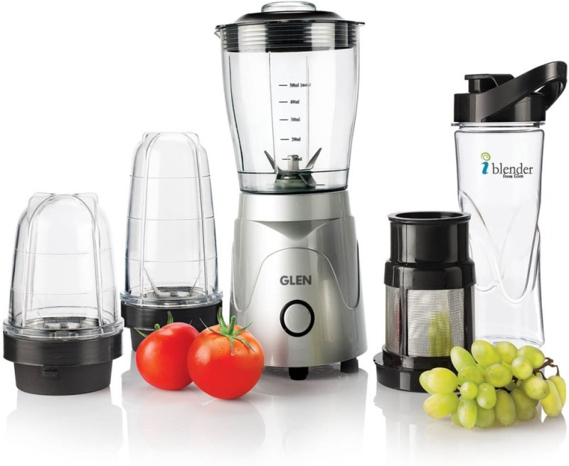 GLEN SA4048MF Active Blender 350 W Juicer Mixer Grinder(Silver, Black, 4 Jars)