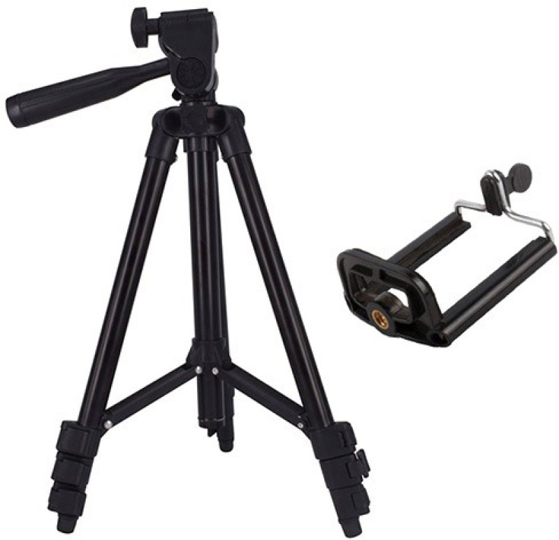 casadomani Professional 3120 Portable Adjustable Aluminum Lightweight Camera Stand With Stand 3-way 360 degree swivel pan head Fully Flexible Mount Cum Tripod Stand for Digital SLR/DSLR Cameras And Mobile Camera Camcorder Tripod(Black, Supports Up to 1500 g)