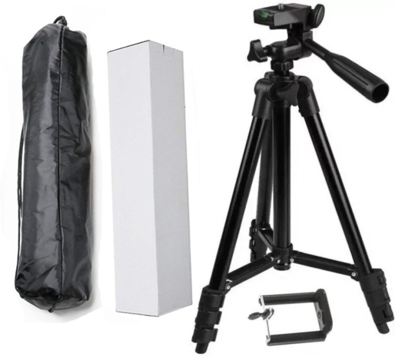BUY SURETY Premium Quality Tripod Stand 360 Degree Extendable Stretch 3120 Portable Digital Camera Mobile Stand Holder Camcorder Tripod Stand Lightweight Aluminum Flexible Portable Three-way Head Compatible all smartphone Tripod(Black, Supports Up to 1500 g)