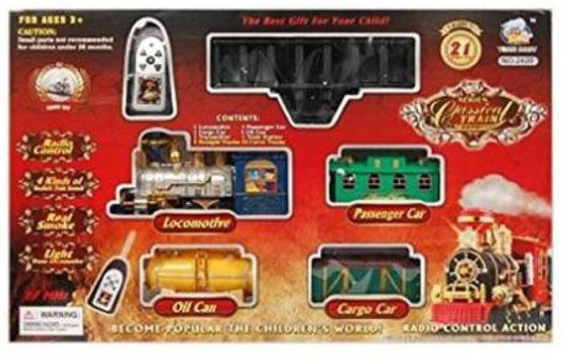 INDMART Classical Battery Operated Radio Control Smoke Train set (21 Pcs)(Multicolor, MULTII)