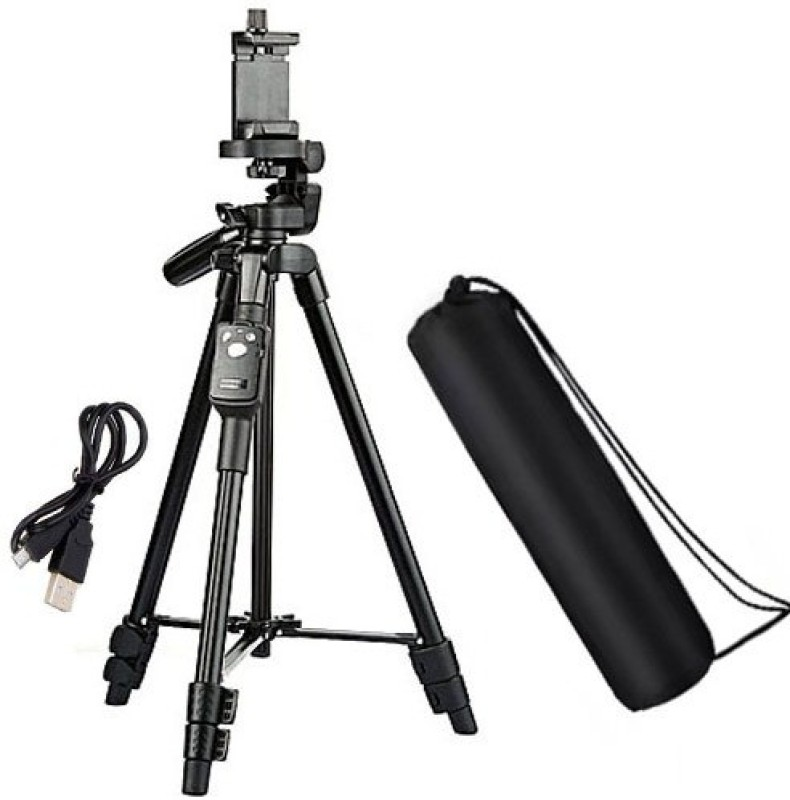 BUY SURETY New Collection Tripod 3388 Adjustable Aluminium With Three-Dimensional Tripod(Black, Supports Up to 2500 g)