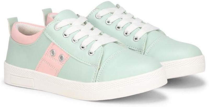FASHIMO Sneakers For Women And Girls Sneakers For Women(Green, Pink)
