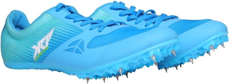 KRP INTERNATIONAL ATHLETICS SPIKES KRP ZF BLUE ATHLETIC SPIKES UK-09 Cricket Shoes For Women(Green, Blue)