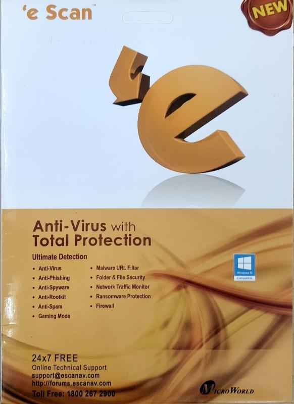 ESCAN Anti-virus 1.0 User 1 Year(CD/DVD)