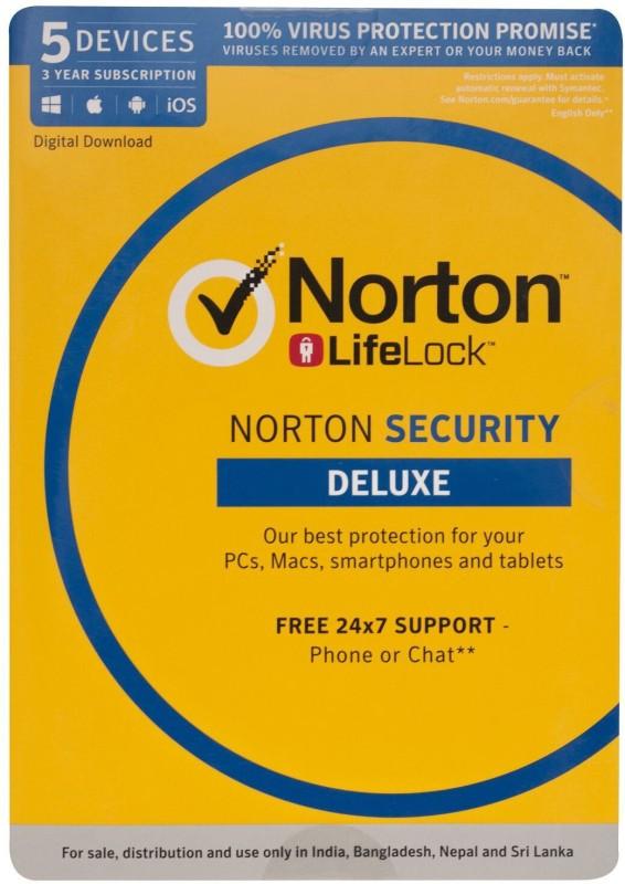 Norton Security Deluxe 5 User 3 Years(Voucher)