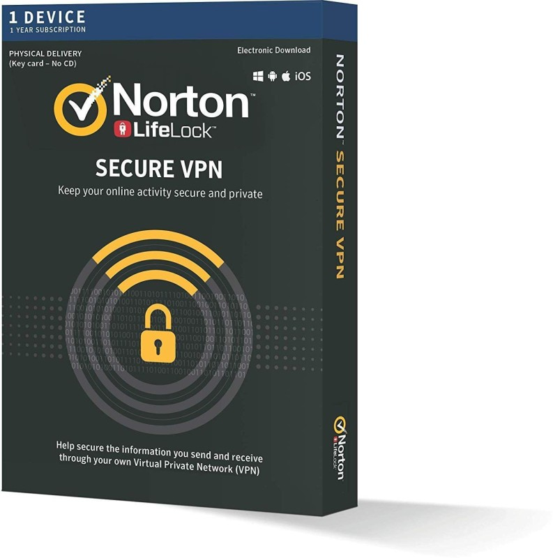 Norton WIFI Privacy 1 User 1 Year(Voucher)