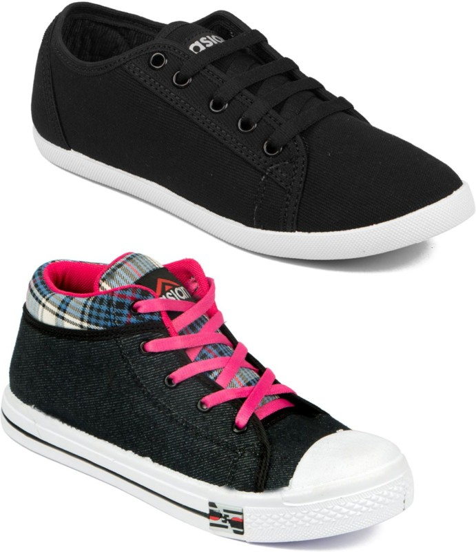 Asian Women Casual & Running Shoes Combo Pack of 2 Casuals For Women(Multicolor)
