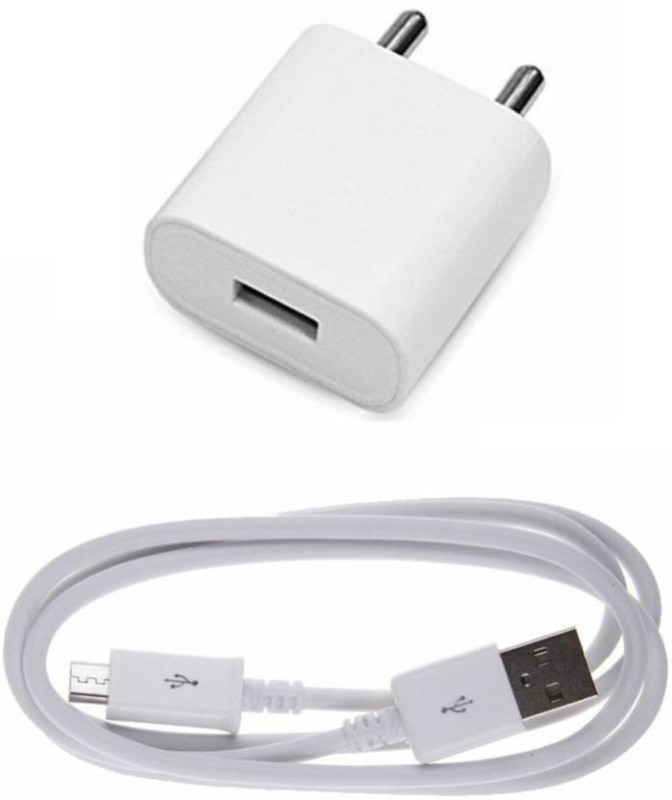 Speeqo 2.1A-I2_Fast_Charger-Spe 1 A Mobile Charger with Detachable Cable(White, Cable Included)