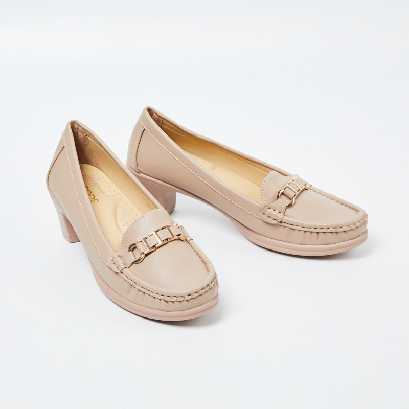 CODE Loafers For Women(Beige)
