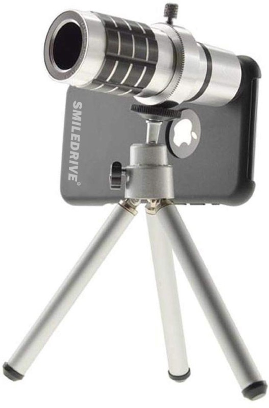 Smiledrive 12x Optical Zoom Lens With Mobile Tripod Iphone 6, 6S Mobile Phone Lens