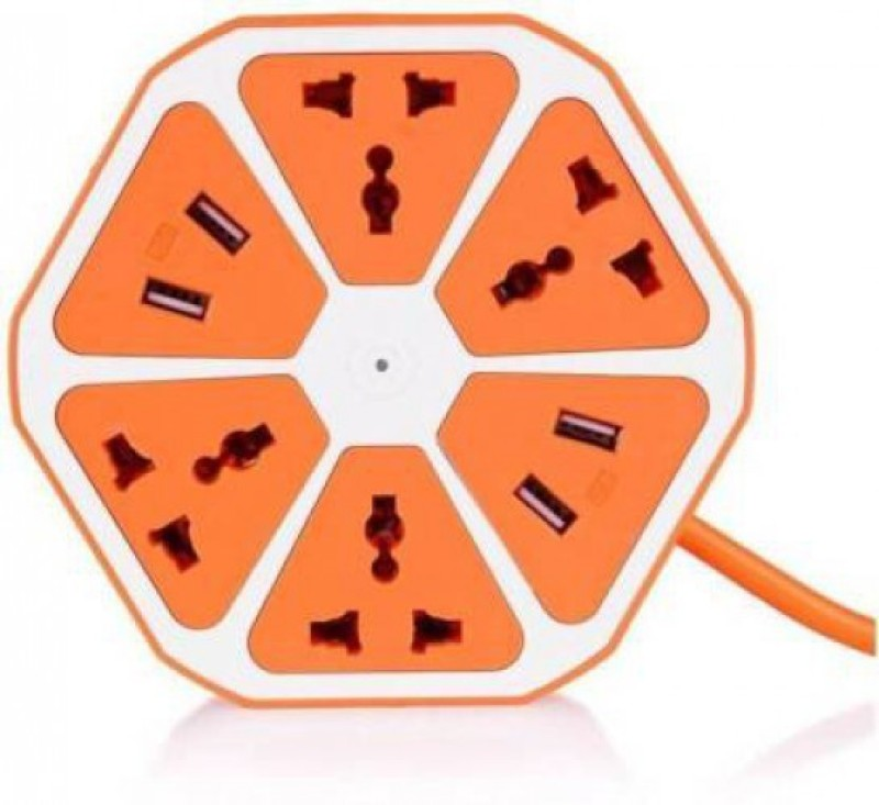 FashionLobby FASHIONLOBBY HEXAGON SOCKET 6  Socket Extension Boards(Multicolor)