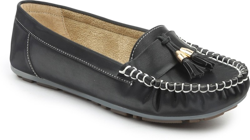 VALIOSAA Loafers For Women(Black)