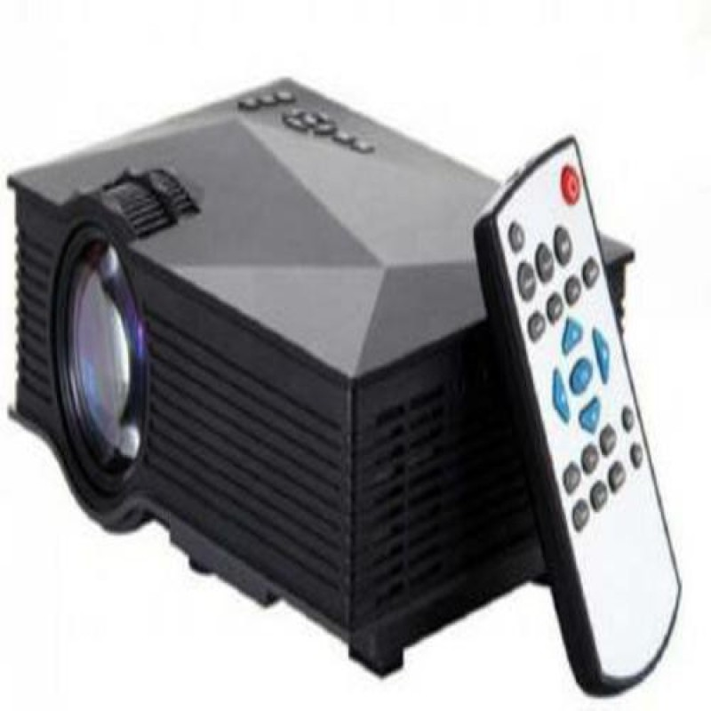 VNEXX 5000 lm LED Corded & Cordless Portable Projector(Black)