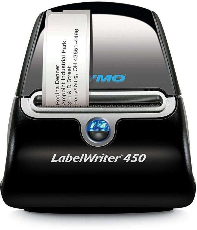 dymo LM-450 Multi-function Monochrome Printer(Black/Grey, Ink Cartridge)