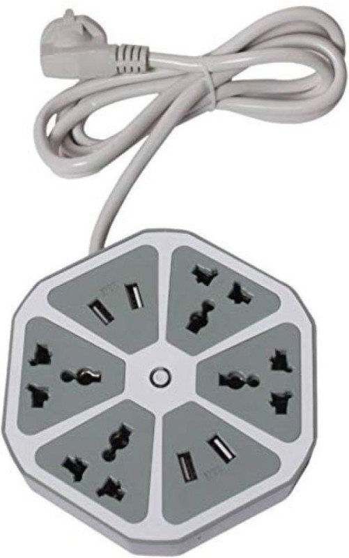renyke Hexagon Socket Extension board 4  Socket Extension Boards(Grey)
