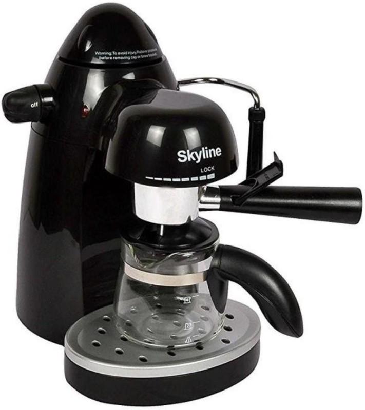 Skyline VT-7003 750-Watt Expresso Coffee Maker (Multicolour) 4 Cups Coffee Maker(Black)