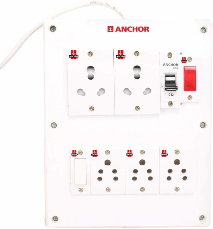 BAHUL ANCHOR BAHUL ANCHOR A21 EXERTION BORAD 5  Socket Extension Boards(White)