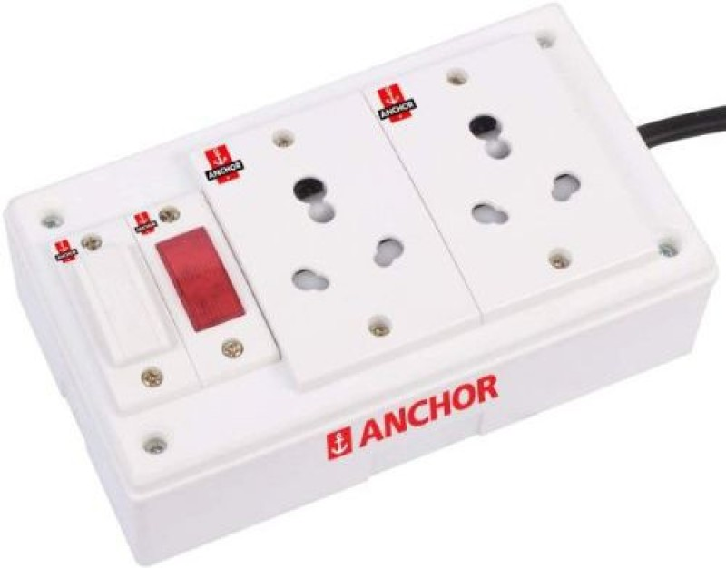 BAHUL ANCHOR A1 Exertion Board 2  Socket Extension Boards(White)