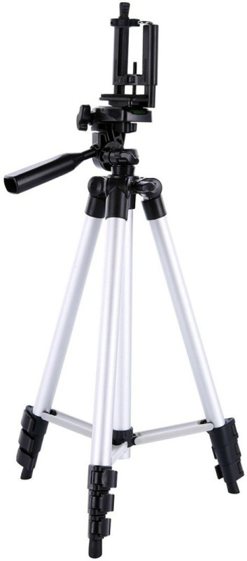 Blue Birds Tripod 3110 Holder Tripod stand Compatible All Smartphone Best Use for Videos on Tripod(Silver, Supports Up to 1500 g)