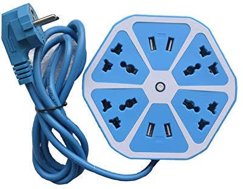 EWELL surge protector 4  Socket Extension Boards(Blue)