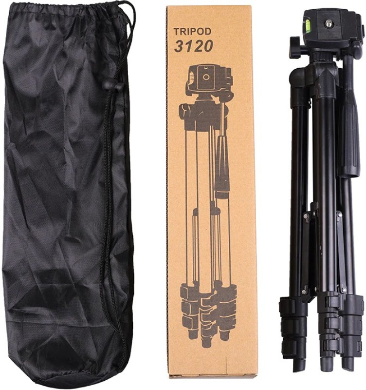 BUY SURETY Portable Adjustable Lightweight Mobile Stand With Three-Dimensional Head & Quick Release Plate   3120 Portable tripod    360 degree Rotatable   Camera stand    Extendable tripod    With Mobile Clip Mount Tripod Kit(Black, Supports Up to 1500 g)