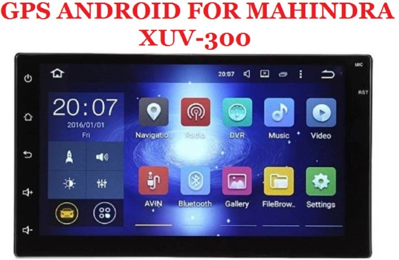DealT XUV300 9 Inch Android Double Din OEM With Inbuilt GPS Navigation System & Screen Mirroring Car Stereo(Double Din)