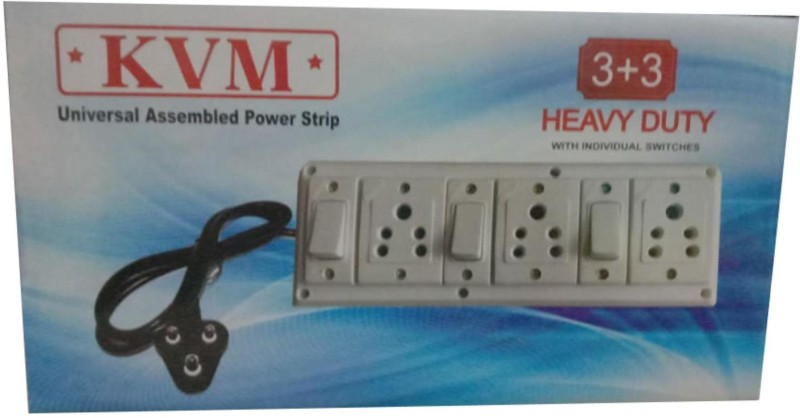 KVM Extension Switch Board with 3 Sockets 3  Socket Extension Boards(White)