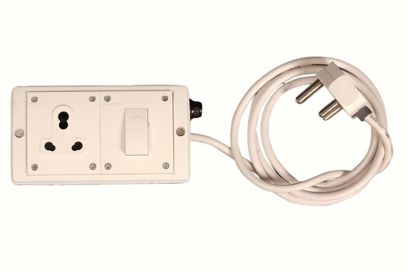 We Care Extention Cord 1  Socket Extension Boards(White)