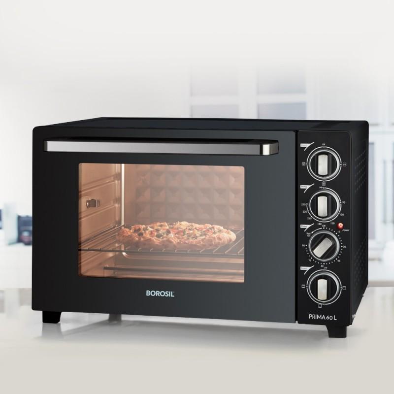 Borosil 60-Litre BOTG60CRS16 Oven Toaster Grill (OTG)(Black)