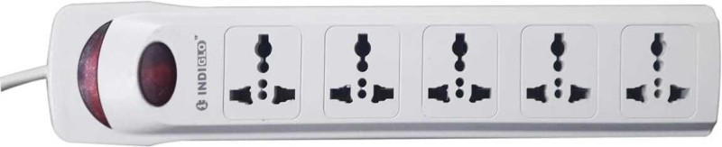 INDIGLO 5+1 ABS 5  Socket Extension Boards(White)