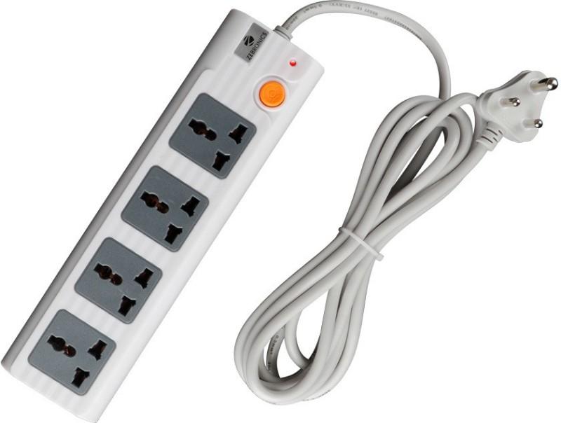 Zebronics ZEB-PS4300 4  Socket Extension Boards(White)